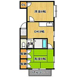 第2サテンハイツ[2階]の間取り