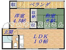 松井マンション[2階]の間取り