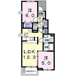 コンヴィスタ B[1階]の間取り