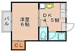 サンコーポ司[2階]の間取り