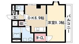 愛知県名古屋市天白区池場2の賃貸マンションの間取り
