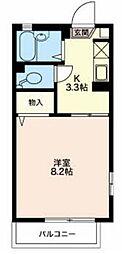 長野県長野市安茂里の賃貸アパートの間取り