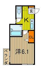 ドリームハイム[3階]の間取り