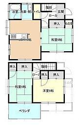 [一戸建] 千葉県柏市南逆井4丁目 の賃貸【/】の間取り