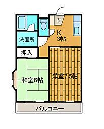 レジデンス千代[4階]の間取り