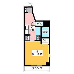 シャトーボナールII[5階]の間取り