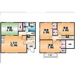 [テラスハウス] 徳島県徳島市上吉野町3丁目 の賃貸【/】の間取り