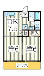 サンライトハイム[1階]の間取り