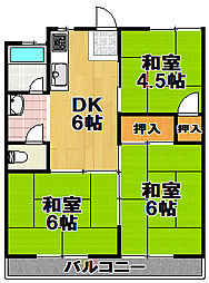 此花厚生年金住宅[8階]の間取り