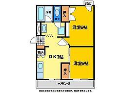 ピースシーサイドKUROSAKI[406号室]の間取り