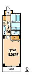 千葉県松戸市馬橋の賃貸マンションの間取り