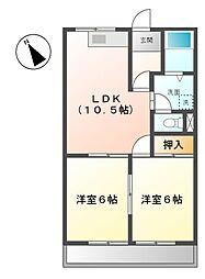 愛知県名古屋市緑区大高町字石ノ戸の賃貸マンションの間取り