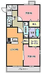 茨城県ひたちなか市小砂町1丁目の賃貸アパートの間取り