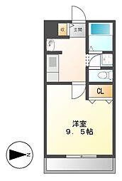 Comodo Motoyama(コモドモトヤマ)[3階]の間取り