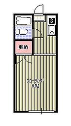 新検見川ハイリビング弐番館[105号室]の間取り