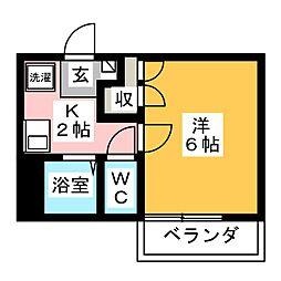 メゾンクロカワ[2階]の間取り