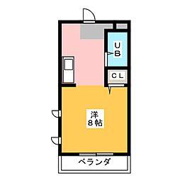 FIRST尼ヶ坂[3階]の間取り