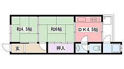 米田文化[210号室]の間取り