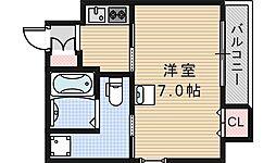 ルクレール鶴ヶ丘[901号室]の間取り