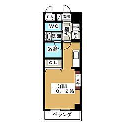 ノヴェル新栄[7階]の間取り