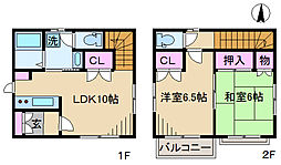 [一戸建] 東京都北区滝野川1丁目 の賃貸【/】の間取り