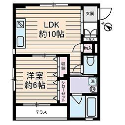 ポルタ西新宿[1階]の間取り
