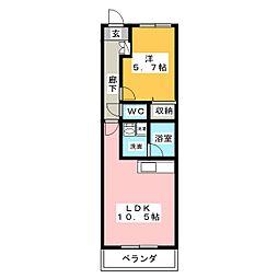 マナール[3階]の間取り