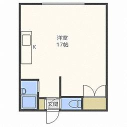 プラザ25[4階]の間取り