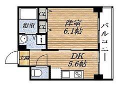 第6関根マンション[2階]の間取り