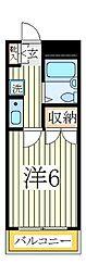 ガーデンハイツ1[1階]の間取り