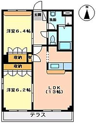 サンライズ・ユウ[A203号室]の間取り