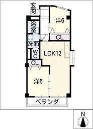 第2フェアモント[2階]の間取り