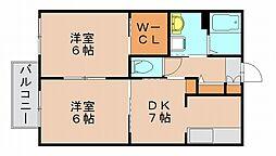 ラヴェルテB[2階]の間取り