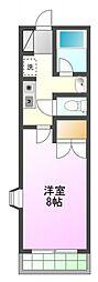 東京都八王子市八日町の賃貸アパートの間取り