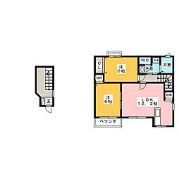 メゾンSH・S[2階]の間取り