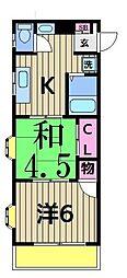 江口マンション[301号室]の間取り