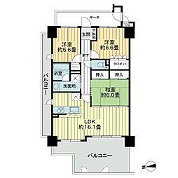 サーパス平成[2階]の間取り