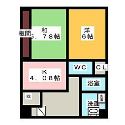 メゾンアンクレ[2階]の間取り