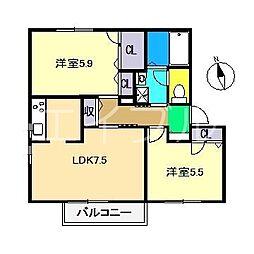 シャーメゾン・フレール[2階]の間取り
