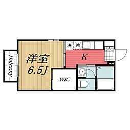 千葉県成田市公津の杜2丁目の賃貸アパートの間取り