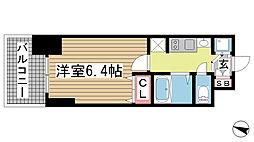 プレサンス三ノ宮駅前プライムタイム[204号室]の間取り