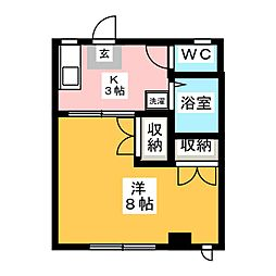 kimachi1437MHビル[3階]の間取り