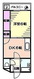 サンライズ大倉山[1階]の間取り