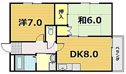 メゾンMUKAIDE[5階]の間取り