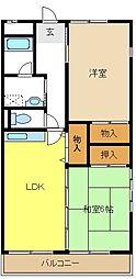愛知県名古屋市緑区藤塚2丁目の賃貸マンションの間取り