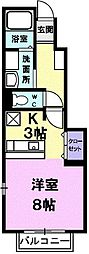 メゾンド・カルム[106号室]の間取り