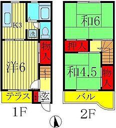 [テラスハウス] 千葉県柏市松葉町1丁目 の賃貸【/】の間取り