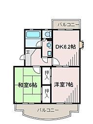 ミレイユマンション[3階]の間取り