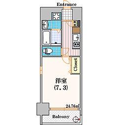 ポルトボヌール南堀江[701号室]の間取り