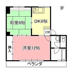 日ノ本町共同ビル[3F号室]の間取り